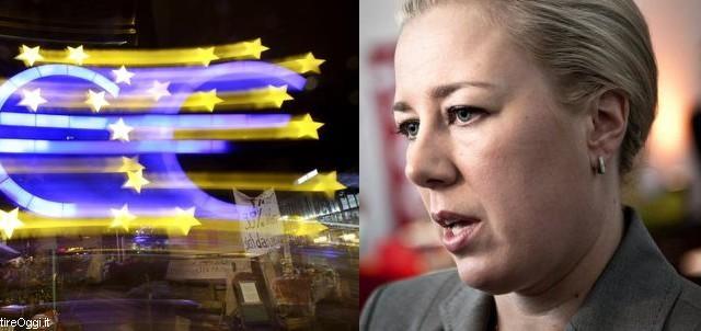 Ancora un attacco alla schiena dell'Euro da parte di Jutta Urpilainen. La Finlandia rimpiange la posizione di Norvegia, Svezia e Danimarca