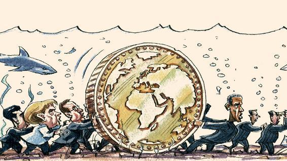Martin Wolf sul Financial Times commenta lo stato dell'arte dopo cinque anni dall'inizio della crisi. Alcuni paesi stanno reggendo con una