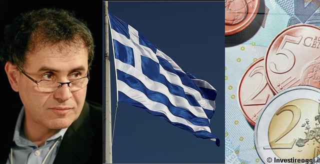 Secondo Roubini la Grecia rischia di uscire dall'Euro in modo disordinato. Ad Atene serviranno 20 anni per risollevarsi