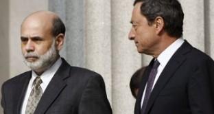 Giovedì si riunisce il board di Francoforte, preceduto da quello della Fed. Nessuna novità rilevante attesa, ma peseranno come un macigno le parole di Draghi e di Bernanke