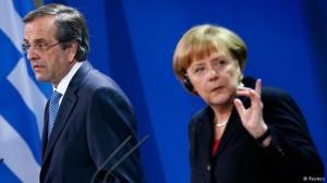 La Germania ribadisce l'importanza che Atene resti nell'Euro e la Grecia rivendica i suoi sforzi. L'unica novità del vertice è la frecciata della Merkel ai falchi di Berlino