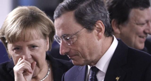 La BCE potrebbe intervenire in soccorso delle banche dell'Eurozona, travolte in borsa da crolli incessanti. E la Germania ora allunga le mani sul