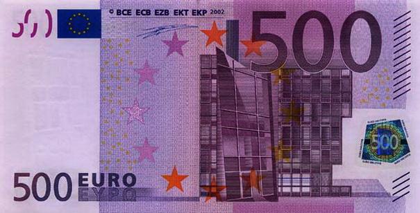 banconota da 500 euro ecco la verit dietro al suo ritiro. Black Bedroom Furniture Sets. Home Design Ideas