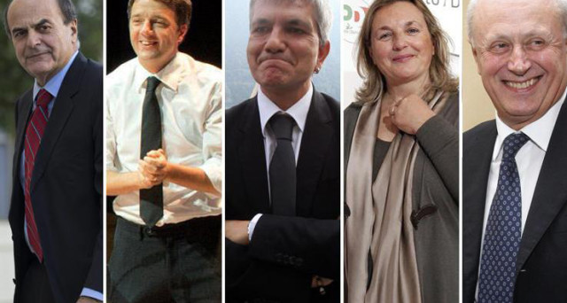 """Primarie PD: il sindaco promette, in caso di vittoria, una squadra di governo con soli dieci ministri. Il segretario gli contesta l'etichetta di """"rinnovatore"""""""