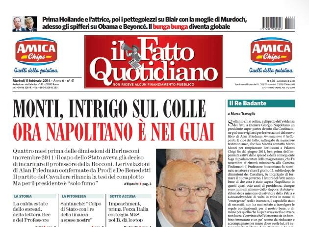 b39fb797d4 Travaglio contro Napolitano: il Re badante - InvestireOggi.it