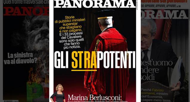 La figlia di Berlusconi attacca la sinistra e la magistratura ma lo fa sul settimanale prodotto dalla Mondadori di cui è Presidente. Su Twitter si grida al conflitto di interessi