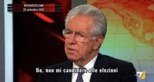 """Monti a capo di una coalizione di cattolici e borghesi? Per Di Pietro """"è un ricatto"""""""