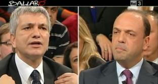 In studio scontro duro tra Alfano e Vendola: destra e sinistra concordi però nell'esigenza di ridurre le tasse
