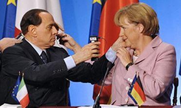 In un'intervista rilasciata alla stampa italiana, Berlusconi detta la linea della politica estera: sconfiggere la Merkel, è questo l'imperativo