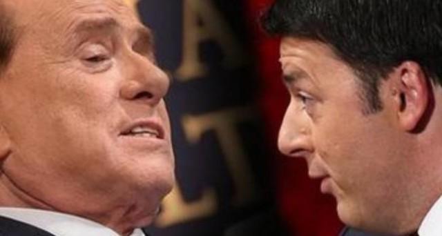 Patto tra Silvio Berlusconi e Matteo Renzi sull'operazione Mediaset-Telecom. Il centro-destra ha altre poche settimane di vita, dopo le elezioni amministrative non esisterà più.