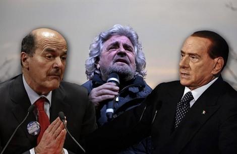 I montiani sono completamente ininfluenti in Parlamento. La governabilità sarebbe garantita solo da un accordo tra Berlusconi e Bersani. Napolitano vola in Germania mentre si fa strada anche la possibilità delle sue dimissioni