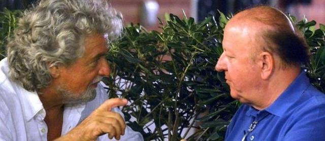 Dopo venti anni, uno dei volti berlusconiani del piccolo schermo si butta tra le braccia del comico genovese: mi ha convinto, Silvio è demotivato e vogliono farlo fuori