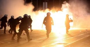 grecia scontri