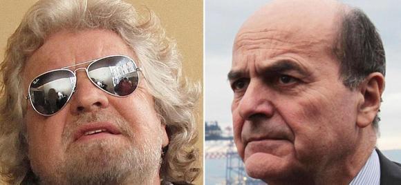 Gli auguri a Bersani da parte di Grillo arrivano sul suo blog.
