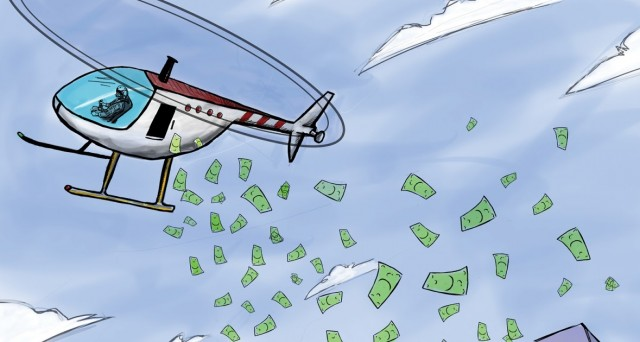 helicopter money bce