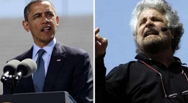 Beppe Grillo sul suo blog, come un fiume in piena, esterna la rabbia sulle vergogne dell'Italia e sulla visita di Barack Obama.