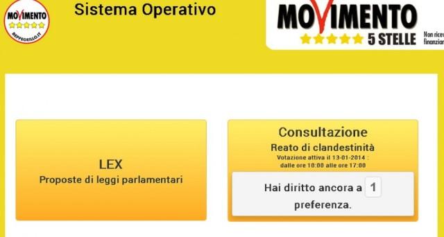 Beppe Grillo ha lanciato un referendum online interno al Movimento 5 Stelle per raccogliere l'opinione degli elettori grillini in merito all'abrogazione del reato di clandestinità. Ha vinto il SI ma non sono mancate le polemiche