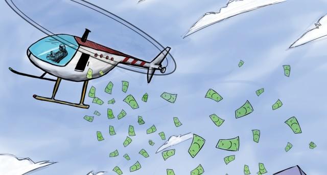 Helicopter money davvero un'opzione credibile per le banche centrali? Secondo uno studio, no. Il denaro gratis non piace agli europei, che non lo spenderebbero.