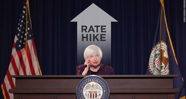 La Fed alza i tassi dello 0,25% e segnala un miglioramento atteso dell'economia americana.