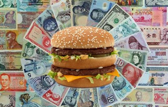 Cambio euro-dollaro sottovalutato del 20%: è il risultato di un'analisi condotta con il Big Mac Index. E la Germania avrebbe una moneta svalutata del 22%, quasi il doppio dell'Italia.