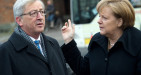 Crisi euro, i piani di Juncker divergono da quelli della Merkel