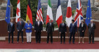 G7 Taormina: programma, temi, confronti e proteste - la sfilata dei (presunti) grandi della terra