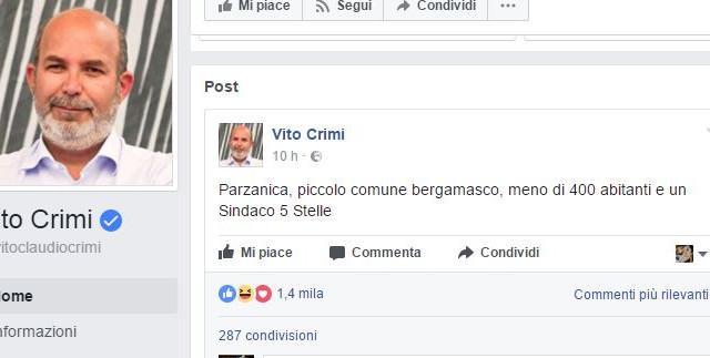 Gli esponenti del Movimento 5 Stelle, Vito Crimi e Maurizio Buccarella pubblicano due post sulle elezioni amministrative e il popolo social non la prende bene
