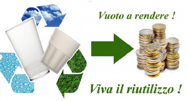 In Italia da 10 ottobre 2017 tornerà il Vuoto a rendere per bottiglie di acqua minerale e birra. Chi ci guadagnerà? Ecco le prime informazioni comunicate dal Ministero dell'Ambiente.