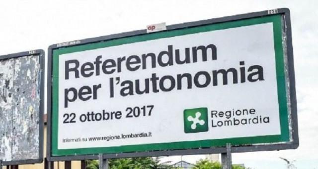 Dopo la Catalogna il 22 ottobre 2017 si terrà un Referendum per l'autonomia anche in Lombardia e in Veneto. Arriva però anche la proposta di Caroppo che vorrebbe l'indipendenza del Sud.
