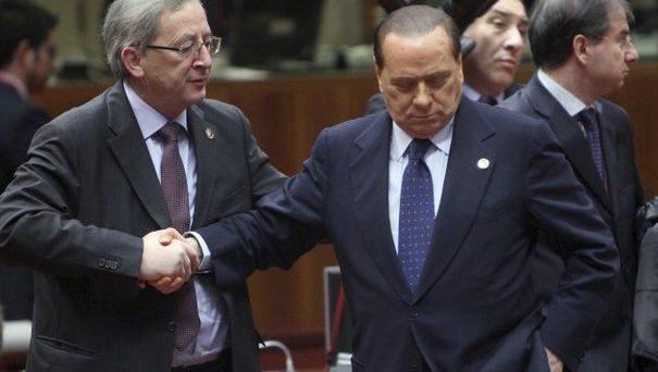 L'Europa appoggia Silvio Berlusconi, fiutando anche il flop del PD di Matteo Renzi. Le larghe intese non vengono ritenute più molto credibili, anche perché dai numeri emerge un possibile boomerang.