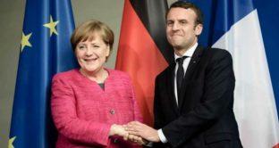 Le distanze tra Merkel e Macron sull'euro