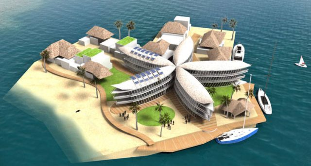Polynesian Flower Island © The Seasteading Institute and Bart Roeffen