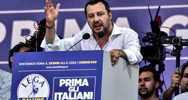 Matteo Salvini da Pontida pone le basi per la sua