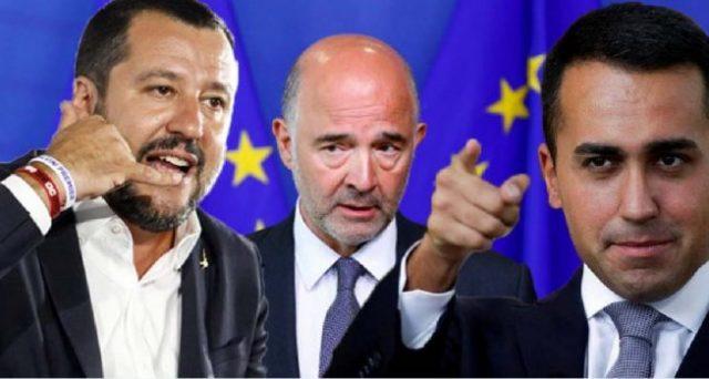 Scontro sul deficit, con l'Europa pronta a bocciare la manovra di bilancio dell'Italia. Ma la mediazione di Matteo Salvini si rivelerebbe decisiva per evitare il peggio sui mercati.
