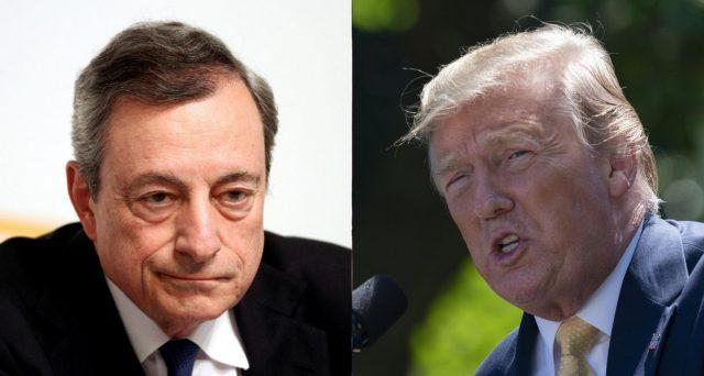 Trump attacca Draghi sull'euro