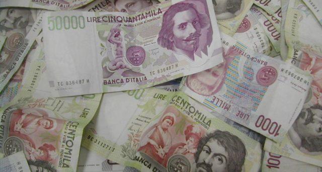 Lira italiana ed euro contro il dollaro