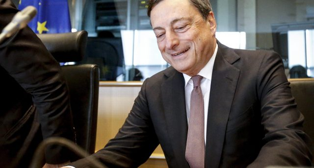 Boom di MPS in borsa sotto Draghi