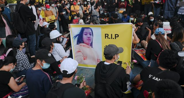 La protesta economica nel Myanmar