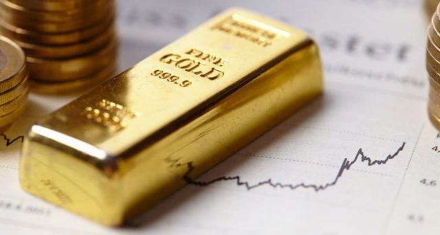 Prezzo dell'oro in forte calo