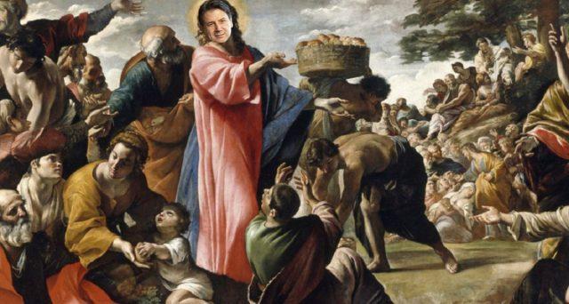 Giuseppe Conte come Dio: moltiplica pani, pesci... e povertà, dopo averla eliminata