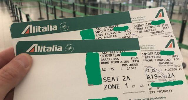 Rimborso biglietti Alitalia