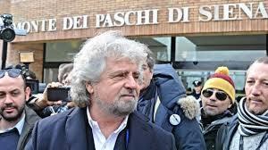 Beppe Grillo presente all'assemblea MPS