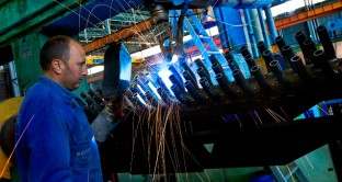 produzione industriale Gran Bretagna