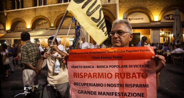 Questa sera a Vicenza si terrà una manifestazione del Coordinamento associazioni banche popolari Don Enrico Torta