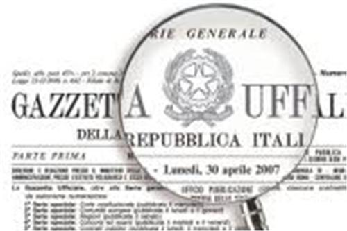 Gazzetta ufficiale disponibile on line per tutti i cittadini dal 1 gennaio 2013.