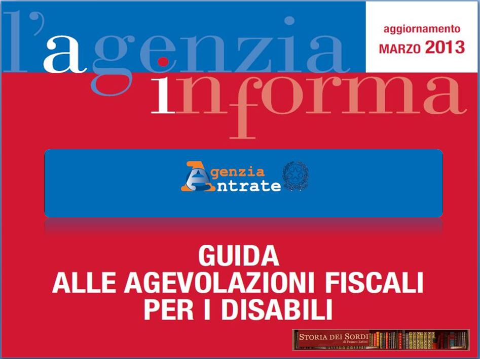 Agevolazioni fiscali disabili 2013 novit nella guida for Agevolazioni fiscali rimozione amianto agenzia entrate