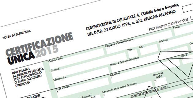 Una delle nuove introduzioni fiscali del 2015, la Certificazione Unica (CU) raccoglie le ritenute fiscali per dipendenti e autonomi