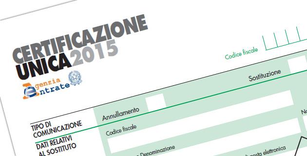 Lavoratori autonomi entro il 31 luglio la Certificazione Unica 2015
