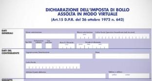 Il 1° febbraio è l'ultimo giorno per presentare la dichiarazione annuale dell'imposta di bollo assolta in modo virtuale.