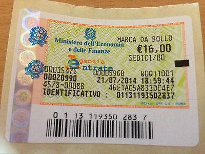 Marca da bollo 16 euro quando e come va applicata - Carta specchio dove si compra ...